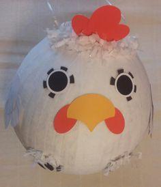 White Chicken Pinata by PinataPals on Etsy