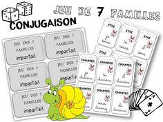 JEU des 7 familles pour réviser la conjugaison