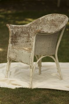 Original Lloyd Loom Chair Painted In Annie Sloan Paloma
