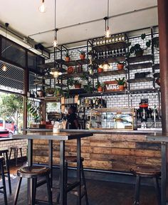 Yours Truly Cafe, Cape Town, South Africa Thanks to for the photo! Rustic Coffee Shop, Cozy Coffee Shop, Rustic Cafe, Coffee Cafe, Coffee Shops, Coffee Shop Interior Design, Coffee Shop Design, Cafe Design, Küchen Design