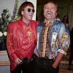 Elton John and Gianni Versace - 1992