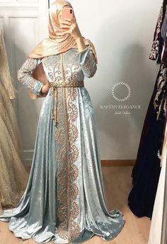 Kaftan Moroccan, Morrocan Dress, Muslim Fashion, Hijab Fashion, Fashion Dresses, Fashion Goth, Oriental Dress, Oriental Fashion, Traditional Fashion