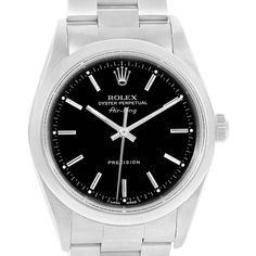 19039 Rolex Air King Black Dial Domed Bezel Steel Mens Watch 14000 SwissWatchExpo Rolex Watches For Men, Vintage Watches For Men, Vintage Rolex, Luxury Watches For Men, Men's Watches, Gold Watches, Fine Watches, Fashion Watches, Men Fashion