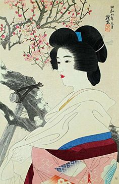 "Japanese Art Print ""Japanese Apricot with Red Blossoms"" by Ito Shinsui. Shin Hanga and Art Reproductions http://www.amazon.com/dp/B00WWEGT34/ref=cm_sw_r_pi_dp_uIyswb0CYFNWC"