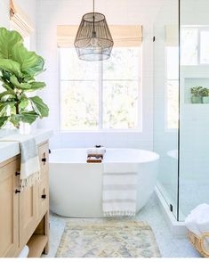 Modern Farmhouse Master Bathroom Renovation With Delta The Process Reveal 35 - kindledecor Bathroom Spa, Master Bathroom, Bathroom Ideas, Bathroom Designs, Bathroom Goals, Bathroom Layout, Eclectic Bathroom, Industrial Bathroom, Bathtub Drain