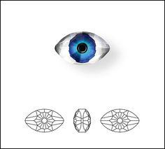 New Swarovski Crystal Eye Fancy Stones