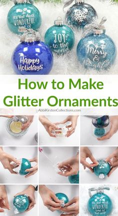 how to make homemade glitter ornaments