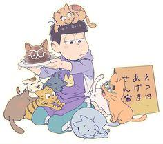 Ichimatsu, Osomatsu San Doujinshi, Cat Character, Kawaii, Wattpad, Spirit Animal, Cute Cartoon, Neko, Webtoon