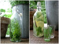 """Homemade Herbal Lemonade  Or try this:Herbal Lemonade  Boil 2 cups of water and pour over a 2"""" sprig of rosemary OR 1 heaping tablespoon of lavender flowers. Steep for 5-8 minutes and then remove herbs. Add 1/3 c. sugar or honey and stir to dissolve. Pour into a 1 quart jar and add 1/4 c. lemon juice. Fill the rest of the way with cold water. Chill and taste, adjusting lemon and sweetness to taste. Serve over ice, with a small fresh sprig of rosemary or lavender if you like."""
