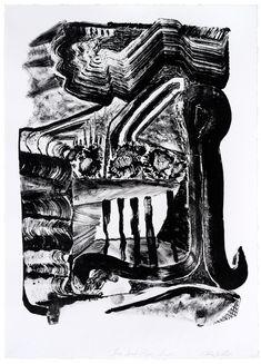 ANDRZEJ ZIELINSKI Three speed paper shredder 2012 lithograph on Magnani paper edition 9 61 × 44 cm