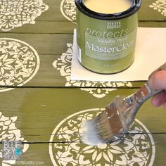 Summer deck and furniture projects by My Patch of Blue Sky | MasterClear® Topcoat Protective Clear Topcoat