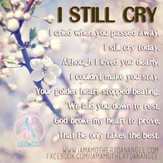 """I Still Cry...."" #memorial #quote"