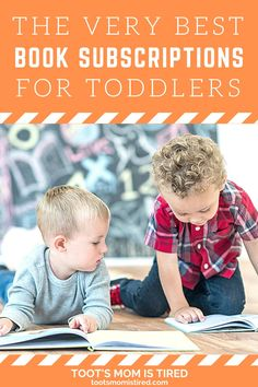 The Best Book Subscriptions For Toddlers | Book subscription services for kids, toddlers, and preschoolers. Book boxes for kids. ebook service for kids. 3 Year Olds, Three Year Olds, One Year Old, Toddler Books, Childrens Books, Two Years Old Activities, Book Boxes, Book Subscription, Tired Mom