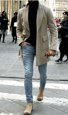 Fashion Causual Gentleman Outerwear Coat – livsmile - Best Fashions for All Mens Fashion Blazer, Big Men Fashion, Urban Fashion, Men's Fashion, Fashion Ideas, Fashion Shirts, Classy Mens Fashion, Fashion Boots, Fashion Black