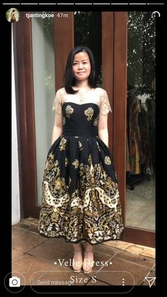 Model Dress Batik, Batik Dress, Dress Brokat, Kebaya Dress, Simple Dresses, Short Dresses, Formal Dresses, Ootd Fashion, Fashion Dresses