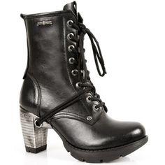 New Rock Stiefel Boots Damen gothic schwarz | eBay