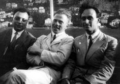 Wolfgang Pauli, Werner Heisenberg, Enrico Fermi