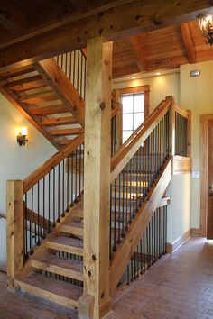 Post and Beam stairway