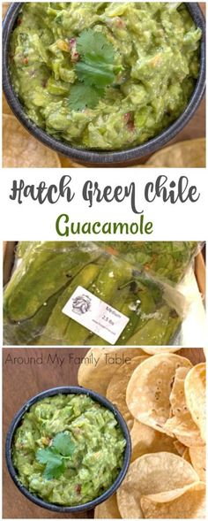 Green chile guacamole is made with Hatch green chiles, ripe avocados, and delicious spices. The perfect spicy guacamole! If you live in the southwest, then you probably look forward to Hatch Chile Season. Hatch Green Chili Recipe, Green Chili Recipes, Hatch Chili, Mexican Food Recipes, Green Chile Salsa Recipe, Hatch Chile Salsa, Green Chile Stew, Green Chilis, Mexican Dishes