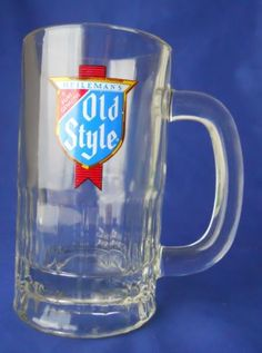 Vintage-Heilemans-Old-Style-Beer-Glass-Stein-Mug-10-Oz-Barware