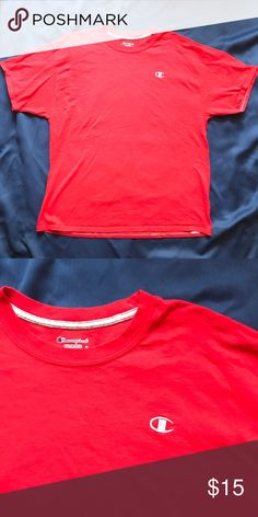 Champion Red T-Shirt In great condition, no major flaws. Champion Shirts Tees - Short Sleeve