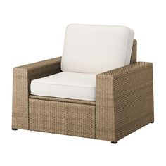 SOLLERÖN One-seat section, outdoor, dark gray - IKEA White Cushions, Seat Cushions, Modular Corner Sofa, Outdoor Chairs, Outdoor Furniture, Garden Furniture, Seat Pads, Decorative Cushions, Brown And Grey