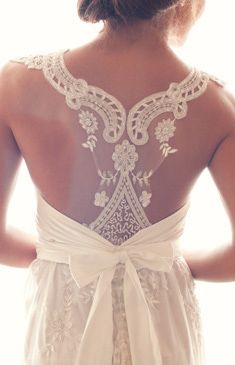 Anna Campbell Bridal Collection. Not as a dress but this would be such a cute back to a top!