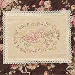 Free PDF pattern - Antique Roses by Meg Hawkey of Crabapple Hill Studio - variegated Cosmo threads