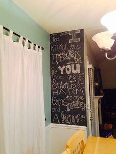 Jeremiah 29:11. Chalkboard wall