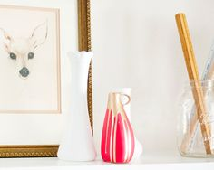 Paint + thrifted finds = awesomesauce. {via Yellow Brick Home}