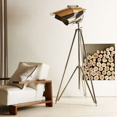 Fancy - Cutter Tripod Lamp by Ralph Lauren Home Contemporary Home Furniture, Contemporary Floor Lamps, Ralph Lauren, Display Homes, Unique Lamps, Deco Design, Home And Deco, Living Room Lighting, Room Lights