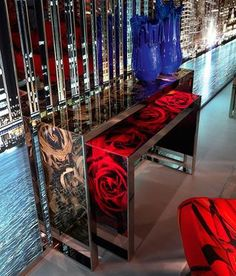 MODERN CONSOLE TABLE by ROBERTO CAVALLI HOME | Be bold with this romantic contemporary console table  | Discover more at: www.bocadolobo.com #homedecor #homefurniture