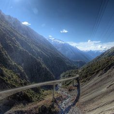 The stunning Arthur's Pass is the highest and most spectacular pass across the Southern Alps