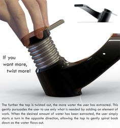 Faucet Makes You Work For Water | Yanko Design