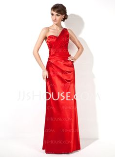 Evening Dresses - $125.99 - Sheath One-Shoulder Floor-Length Charmeuse Evening Dresses With Embroidered (017022549) http://jjshouse.com/Sheath-One-Shoulder-Floor-Length-Charmeuse-Evening-Dresses-With-Embroidered-017022549-g22549