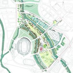 heneghan peng architects - London Olympic 2012: Southpark Legacy Masterplan