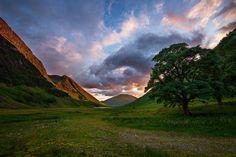 Glencoe, Scotland 'Glencoe Sunset' by Christian Thamm