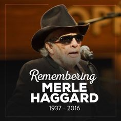 Lost one of Country musics greats - Merle Haggard Country Musicians, Country Music Artists, Country Music Stars, Country Singers, Sound Of Music, Good Music, My Music, Music Stuff, Outlaw Country
