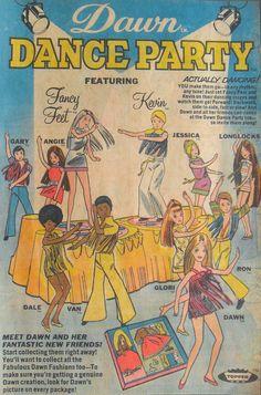 1971 Dawn Dance Party I had the Dawn dolls, their fashion stage, beauty salon and car. I also had the Dawn doll paper doll set.