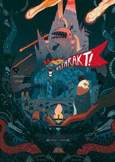 Mon illustration pour notre projet KATARAKT!Exposée en ce moment à Phil factory, Nantes
