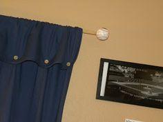 DIY Baseball Curtain Rod