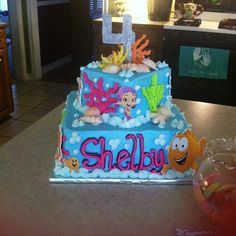 """Photo 1 of 35: Beach Bubble Guppies Party / Birthday """"Shelby's 4th Birthday"""" 