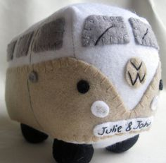 VW Campervan Gift VW Campervan Plush Collectible, Personalized Car Toy, Made to Order on Etsy, $43.19