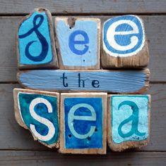 'see the sea' - driftwood art -
