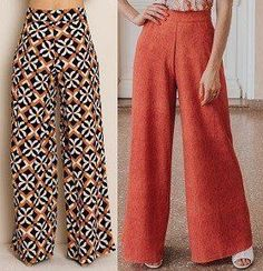 Wide pants pattern with elastic waist – Women's Style Costura Fashion, Elastic Jeans, Wide Pants, Cargo Pants, Dress Sewing Patterns, Pants Pattern, Fashion Sewing, Black Bikini, Pants Outfit