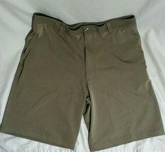 NIKE FIT DRY 36 Mens Golf Shorts Brown Cool  #NikeGolf #DressShorts