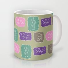floral,house,tree Mug by aticnomar - $16.00 Mugs, Tableware, Floral, Gifts, House, Etsy, Presents, Dinnerware, Cups