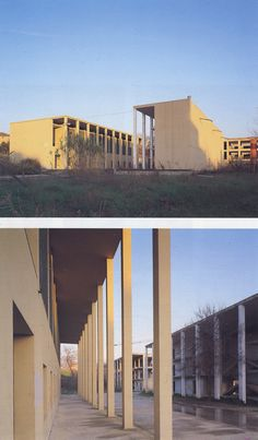 Giorgio Grassi | Residencia de Estudiantes | Chieti, Italia | 1976 Eco City, Rationalism, Column Design, Le Corbusier, Brutalist, Light Colors, Architecture Design, Landscape, Photos