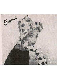 Emme pollka dot hat gloves vogue 1959 #EasyNip
