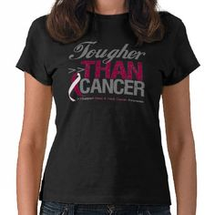 Tougher Than Cancer - Head and Neck Cancer Tee Shirts